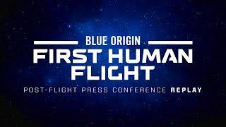 Replay - First Human Flight Post-Flight Press Conference