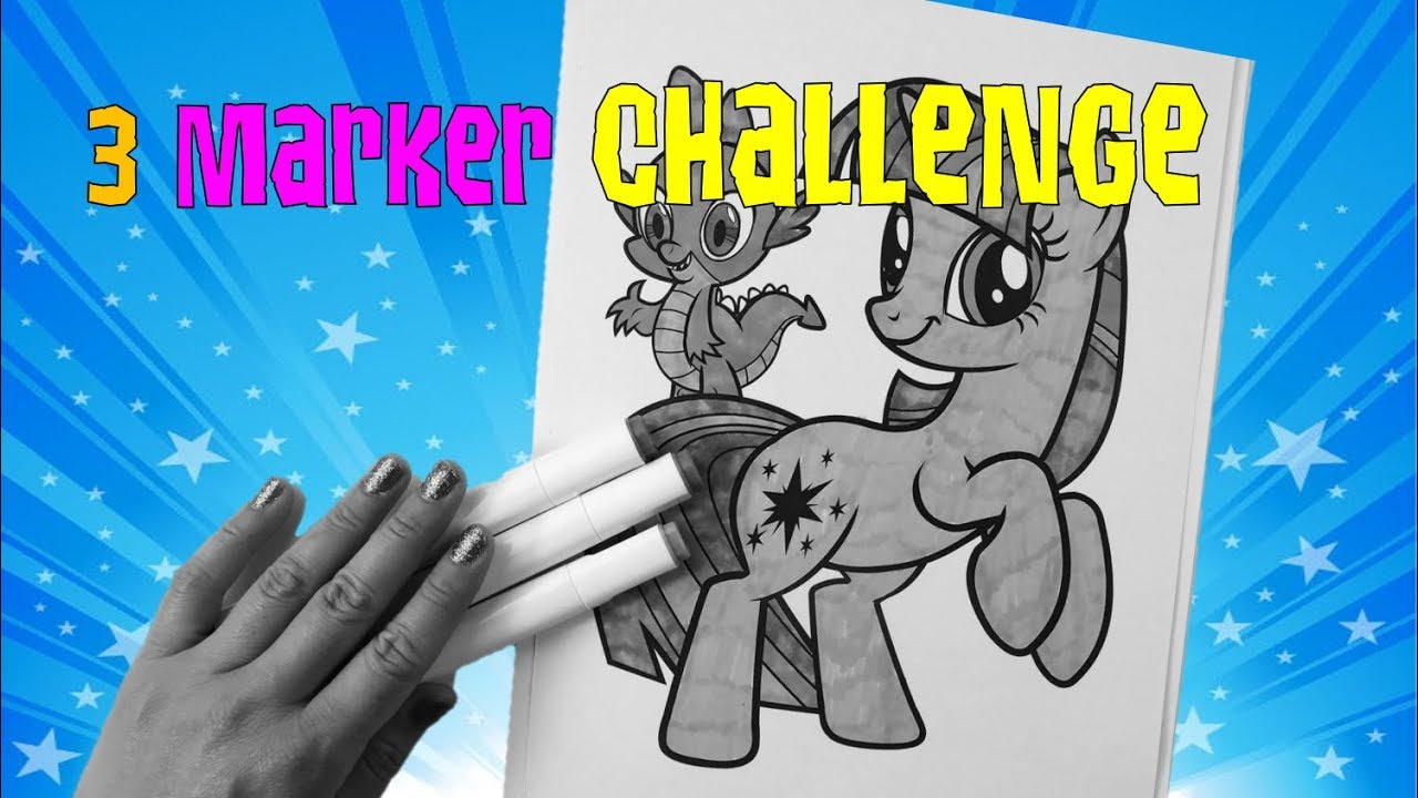 3 Marker Challenge My Little Pony Coloring
