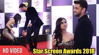 Download Zaheer Iqbal and Pranutan Bahl at Star Screen Awards 2018