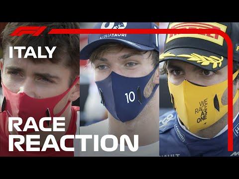 F1イタリア・モンツァ決勝を終えたトップドライバー達のコメント・インタビュー動画