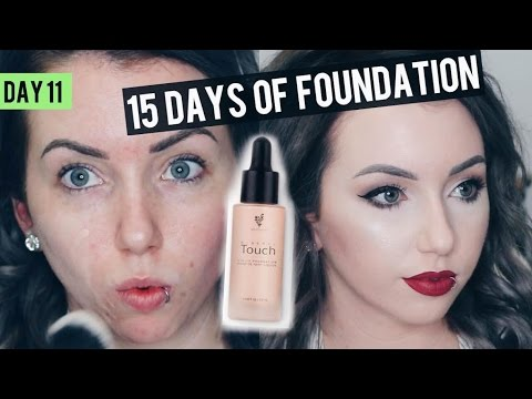 YOUNIQUE TOUCH MINERAL LIQUID Foundation {Review & Demo} 15 DAYS OF FOUNDATION