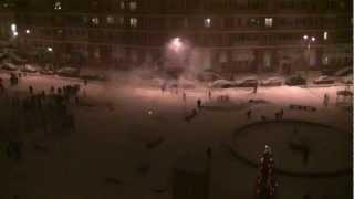 Неудачный салют во дворе. г.Видное, ул.Березовая.