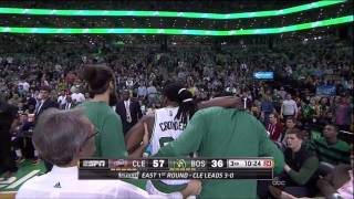 J.R. Smith ejection flagrant 2 strikes Jae Crowder: Cleveland Cavaliers at Boston Celtics