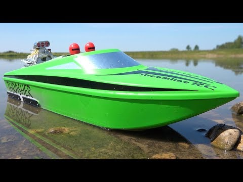 UPGRADED 6S V2 THRASHER XL JOLLY GREEN JET BOAT W/ BiLGE PUMP From StreamlineRC! | RC ADVENTURES