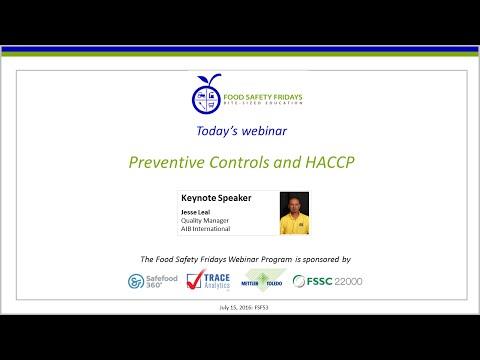 Preventive Controls and HACCP - YouTube