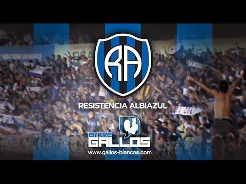 """""""La mejor del país, Barra Resistencia Albiazul / Entre Gallos / Clásico #GallosBlancos 3-2 #SanLuis"""" Barra: La Resistencia Albiazul • Club: Querétaro"""