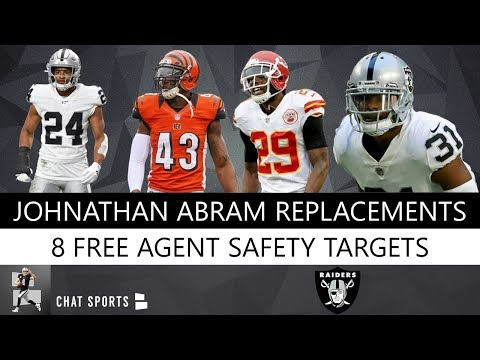 8 NFL Free Agent Safeties The Oakland Raiders Could Sign To Replace Johnathan Abram In 2019