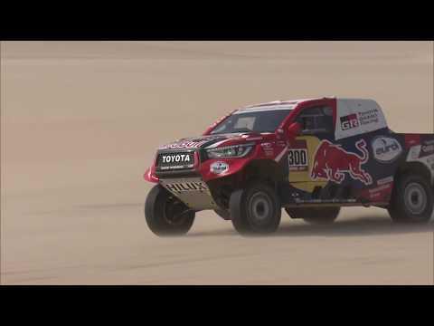 【ダカールラリー ToyotaGazooRacingチームのハイライト動画】ステージ10ハイライト