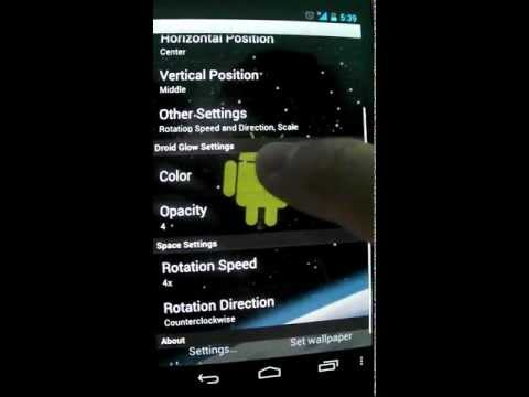 Video of Droid in Space Live Wallpaper