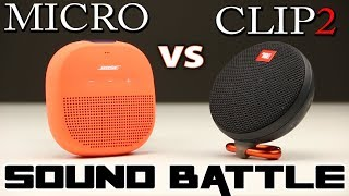 SoundLink Micro vs JBL Clip 2: SoundBattle