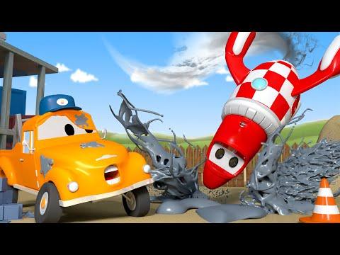 Rocky El Cohete - El lavado de Autos de Tom La Grúa 🛀 Dibujos animados de carros