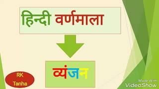 हिन्दी वर्णमाला - व्यंजन तथा इसके भेद