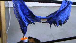 Lingerie Burn 1-4.....Blue Satin Panty