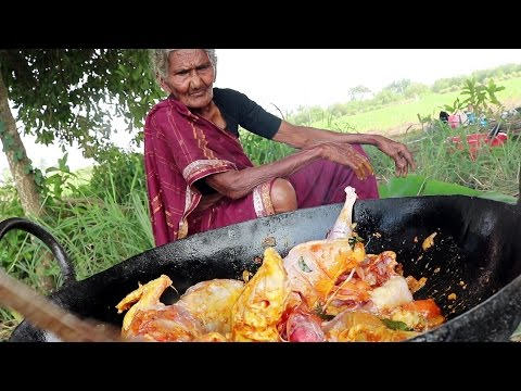 My 105 Years Grandma's Yummy Full Chicken Recipe | Tasty Chicken Curry  || Country Foods