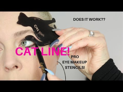 WHAT IS THIS?? CAT LINE!! PRO Eye Makeup Stencils!! Does It WORK? |  Nicole Chantell