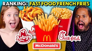 Ranking Fast Food French Fries | McDonald's, Popeyes, Arby's, Chick-fil-A, Shake Shack, Burger King