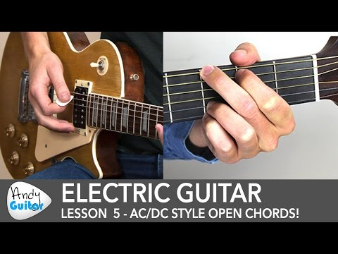Electric Guitar Lesson 5 - AC/DC Style Chords for Beginners