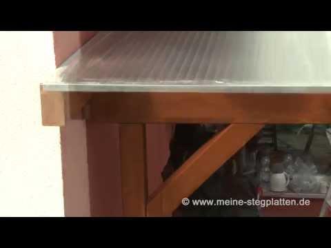 Verlegeanleitung Doppelstegplatten Alu Gummi Profil Teil 4
