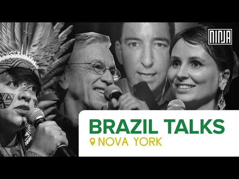 #AoVivo Caetano Veloso, Célia Xakriabá e Petra Costa em Nova York