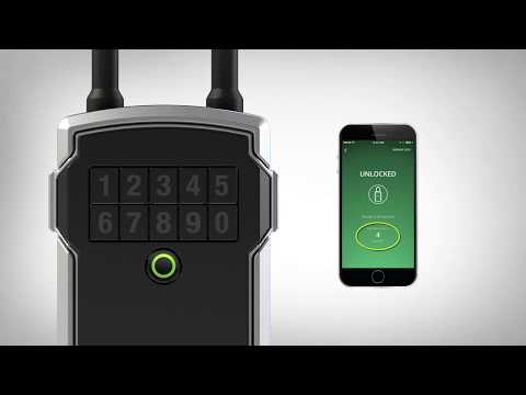 Screen capture of Bluetooth<sup>®</sup> Lock Box - How to Register & Add Your Lock Box to Master Lock Vault eLocks App