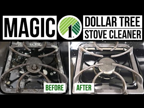 DIY MAGIC STOVE CLEANER // Dollar Tree Cleaning Hack // Husband Takeover!