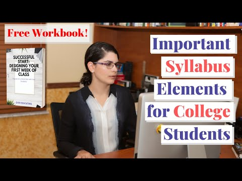 Tips For Creating A College Class Syllabus - YouTube