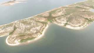 LCRA aerial video of lakes Travis and Buchanan shows drought effects in Central Texas, Oct. 11, 2013