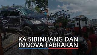 KA Sibinuang dan Innova Tabrakan di Lubuk Buaya Kota Padang, Korban Terluka Dibawa ke RS