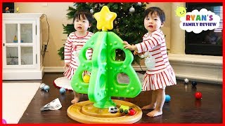 Twin Babies First Christmas Tree Toy From Step2 With Choo Choo Train!