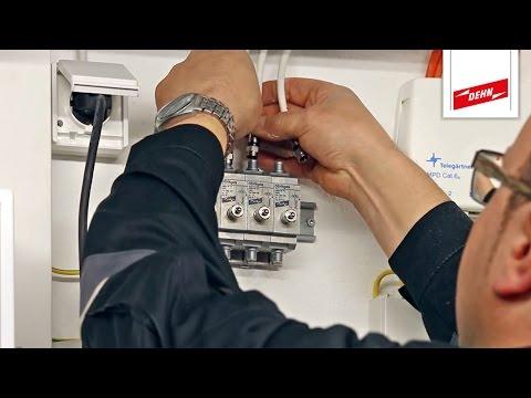 Überspannungsschutz für Koax-Systeme SAT/TV einbauen | Teil 2/2