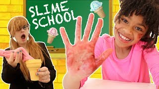 Slime School Teacher vs Slime Students! Classroom Sneak FAIL - New Toy School