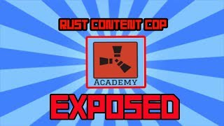 YouTuber EXPOSED For FAKING CONTENT (Rust Academy) Rust Content Cop
