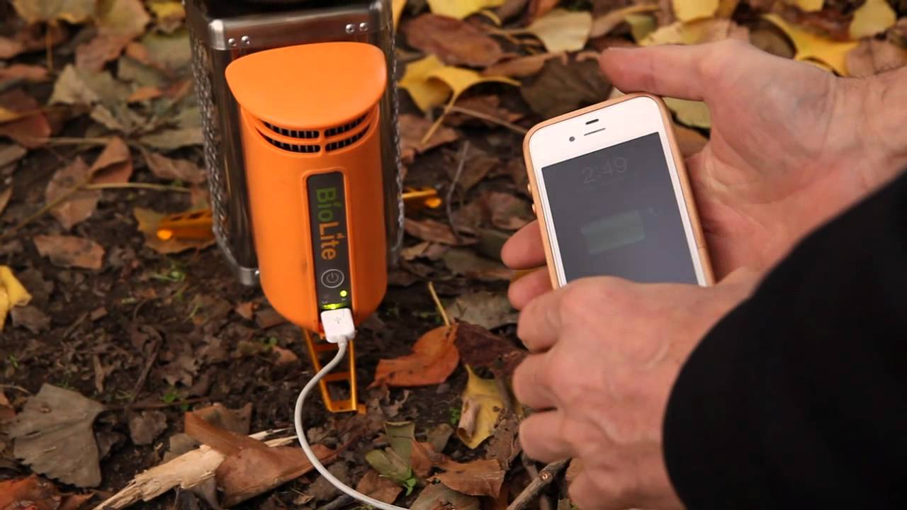 Biolite Stove Charges Gadgets, Incinerates Forests