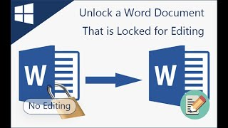 How to Unlock a Word Document That is Locked for Editing