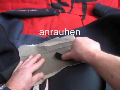 Neopren reparieren, kleben, Anleitung Neoprenanzug (Wellenreiten Ostsee-Nordsee)