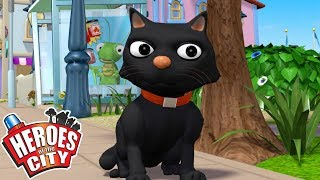 Heroes of the City - One Hundred Cats | Cartoons For Kids | Vehicles For Kids | Car Cartoons
