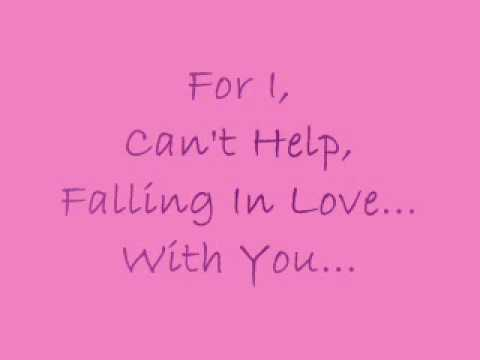 Elvis presley  i can  39 t help falling in love with you lyrics