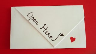 Easy Origami Valentines Day Note | DIY Valentines Day Note  #letterfolding