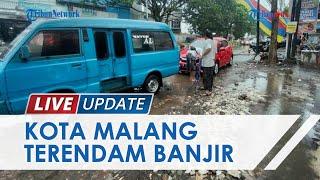 Hujan Deras Guyur Kota Malang, Akibatkan Banjir di Sejumlah Jalan hingga Buat Sejumlah Mobil Mogok