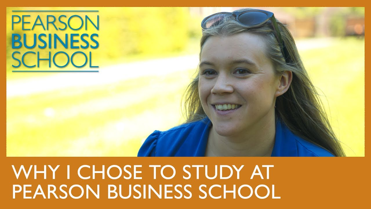 Why I chose to study at Pearson Business School