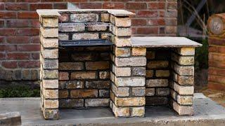 Hjemmelavet grill mursten