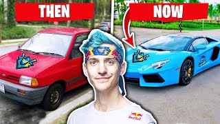Fortnite YouTubers Cars Then and Now (Ninja, Tfue & more)