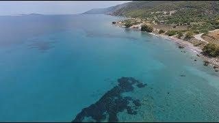 Забытый пляж с морем изумрудного цвета на Родосе - Glifadas Beach