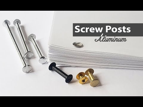3 in Aluminum Chicago Screws//Screw Posts Qty 100 Sets