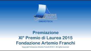 Premiazione XI Premio di Laurea Artemio Franchi