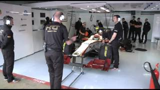 F1 2012 - HRT F112 launch - Launch & test (Karthikeyan at Barcelona)