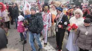 preview picture of video '25 Korowód Grup Zapustnych we Włocławku. Kujawskie Zapusty 2014 - 02.03.2014'