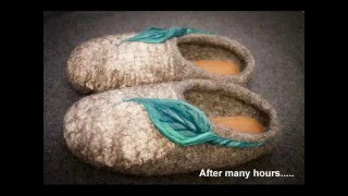 How To Make Wet Felted Slippers