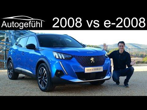 all-new Peugeot 2008 vs Peugeot e-2008 FULL REVIEW comparison petrol vs EV - Autogefühl
