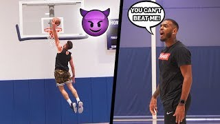 PLAYING 1's AGAINST AN NBA PLAYER 😈 *gets intense* | Jordan Lawley Basketball